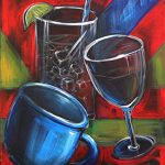 "3 Glasses - Acrylic 30"" x 40"""
