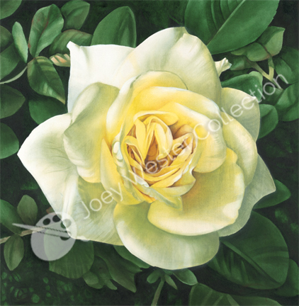 Joey Wester Yellow Rose painting